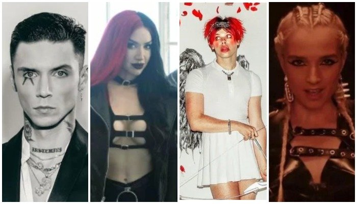 andy black, new years day, ash costello, yungblud, poppy, makeup
