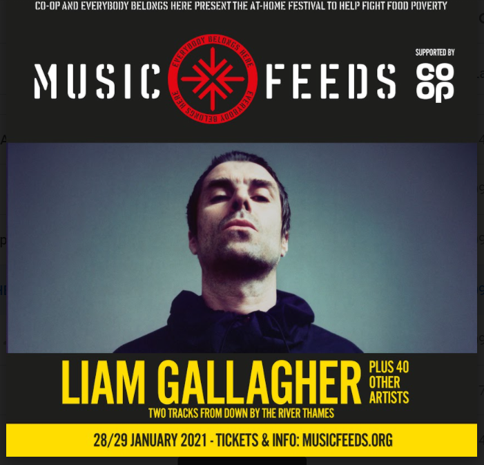 Liam Gallagher Music Feeds Hero Image