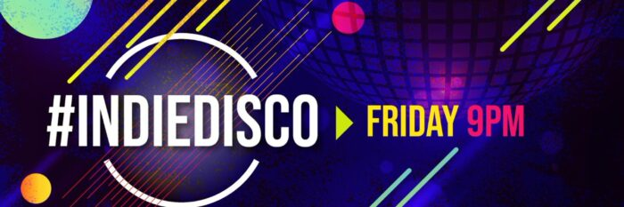 The Indie Disco takes place on Twitter every Friday at 9pm.